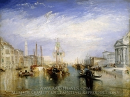 The Grand Canal, Venice painting reproduction, Joseph Mallord William Turner