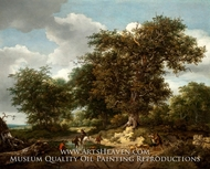 The Great Oak by Jacob Van Ruisdael