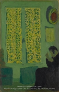 The Green Interior by Edouard Vuillard