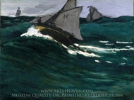 The Green Wave painting reproduction, Claude Monet