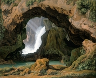 The Grotto of Neptune in Tivoli painting reproduction, Johann Martin Von Rohden