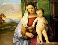 The Gypsy Madonna painting reproduction, Titian