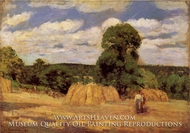 The Harvest at Montfoucault by Camille Pissarro
