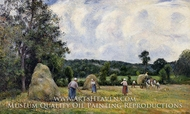 The Harvest at Montfoucault painting reproduction, Camille Pissarro