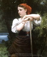 The Haymaker (Faneuse) painting reproduction, William Adolphe Bouguereau