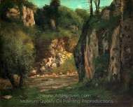 The Hidden Brook painting reproduction, Gustave Courbet