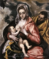 The Holy Family painting reproduction, El Greco
