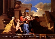 The Holy Family on the Steps by Nicolas Poussin