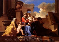 The Holy Family on the Steps painting reproduction, Nicolas Poussin