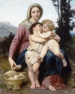 The Holy Family (Sainte Famille) painting reproduction, William Adolphe Bouguereau