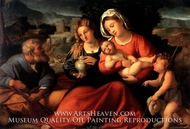 The Holy Family with Mary Magdalene and the Infant Saint John by Palma Vecchio