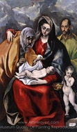 The Holy Family with Saint Anne painting reproduction, El Greco