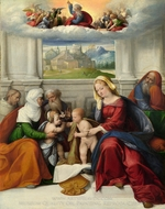 The Holy Family with Saints painting reproduction, Garofalo