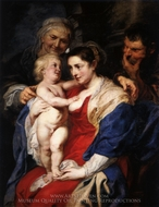 The Holy Family with St. Anne painting reproduction, Peter Paul Rubens