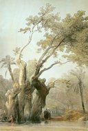 The Holy Tree of Metereah painting reproduction, David Roberts