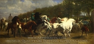 The Horse Fair painting reproduction, Rosa Bonheur