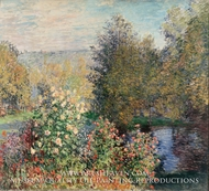 The Hoschedes' Garden at Montgeron by Claude Monet