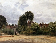 The Hospice at Argenteuil painting reproduction, Claude Monet