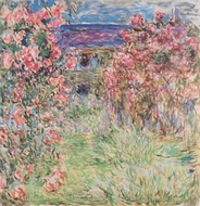 The House among the Roses painting reproduction, Claude Monet