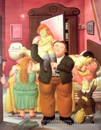 The House of Amanda Ramirez painting reproduction, Fernando Botero