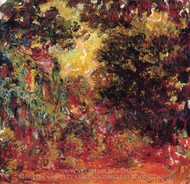 The House of the Artist, View of the Rose Garden painting reproduction, Claude Monet