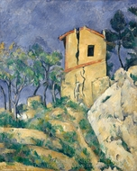 The House with the Cracked Walls painting reproduction, Paul Cezanne