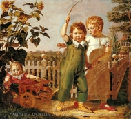 The Hulsenbeck Children painting reproduction, Philipp Otto Runge