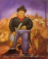 The Hunter by Fernando Botero