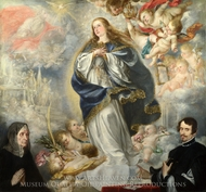 The Immaculate Conception with Two Donors painting reproduction, Juan De Valdes Leal