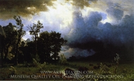 The Impending Storm (The Last of the Buffalo) painting reproduction, Albert Bierstadt