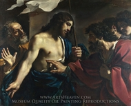 The Incredulity of Saint Thomas painting reproduction, Guercino