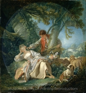 The Interrupted Sleep painting reproduction, Francois Boucher