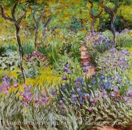 The Iris Garden at Giverny by Claude Monet