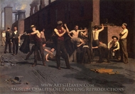 The Ironworker's Noontime painting reproduction, Thomas Pollock Anschutz