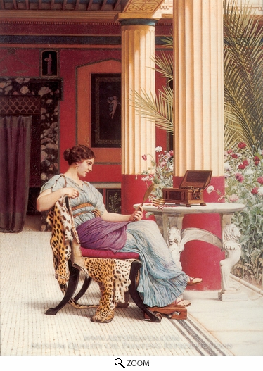 John William Godward, The Jewel Casket oil painting reproduction