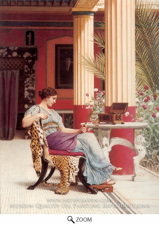 Painting Reproduction of The Jewel Casket, John William Godward