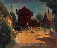 The Jitney painting reproduction, John French Sloan