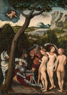 The Judgment of Paris painting reproduction, Lucas Cranach