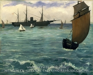 "The ""Kearsarge"" at Boulogne painting reproduction, Edouard Manet"