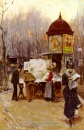 The Kiosk, Paris by Carlo Brancaccio