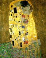 The Kiss (detail) painting reproduction, Gustav Klimt