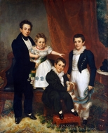 The Knapp Children painting reproduction, Samuel Lovett Waldo