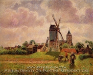 The Knocke Windmill, Belgium painting reproduction, Camille Pissarro