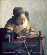 The Lacemaker by Jan Vermeer