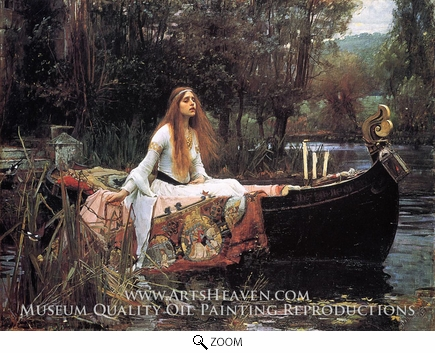 Painting Reproduction of The Lady of Shalott, John William Waterhouse