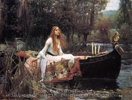 The Lady of Shalott painting reproduction, John William Waterhouse