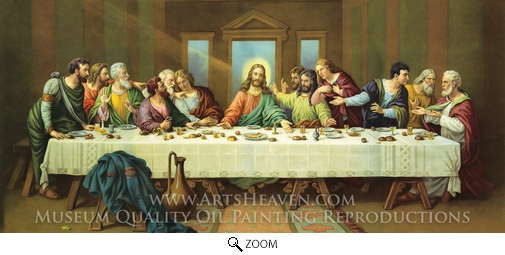 Painting Reproduction of The Last Supper, Leonardo Da Vinci