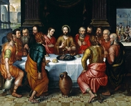 The Last Supper painting reproduction, Pieter Jansz Pourbus
