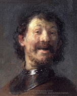 The Laughing Man painting reproduction, Rembrandt Van Rijn