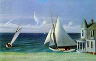 The Lee Shore painting reproduction, Edward Hopper